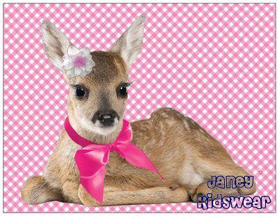 Janey bambi ansichtkaart - janey-kidswear.com