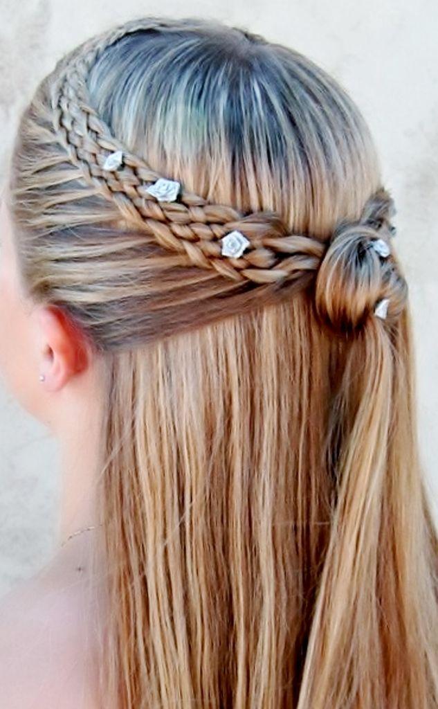 95 best flecht frisuren images on pinterest braids hairstyles boho brides half up french braid bridal hair toni kami wedding hairstyles wedding hairstyle ccuart Gallery