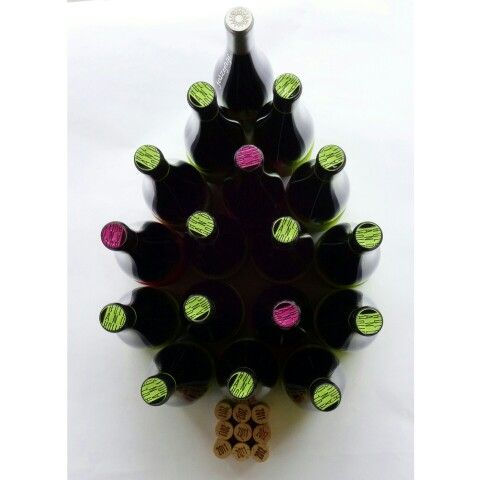 Wine bootle photo advent christmas minimal