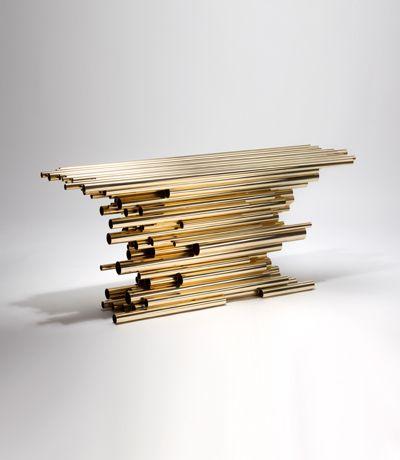 Herve Van der Straeten372 Console Pipe Show #GISSLER #interiordesign