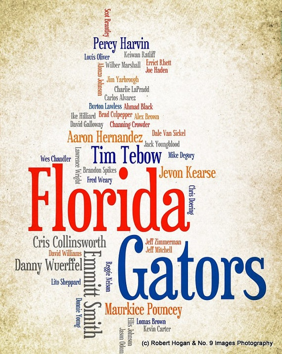 University of Florida Gators  Greatest Football by no9images, $15.00