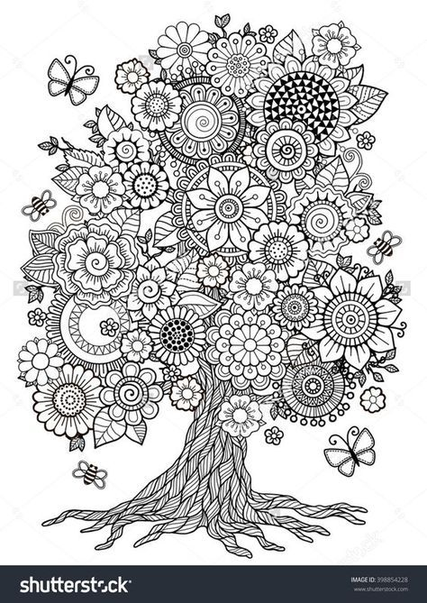 Coloring Page: Tree