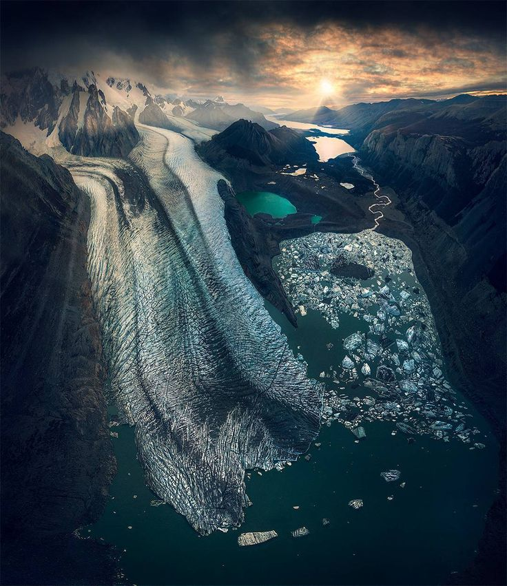 A glacier in Patagonia....will they remain as just memories in the near future?