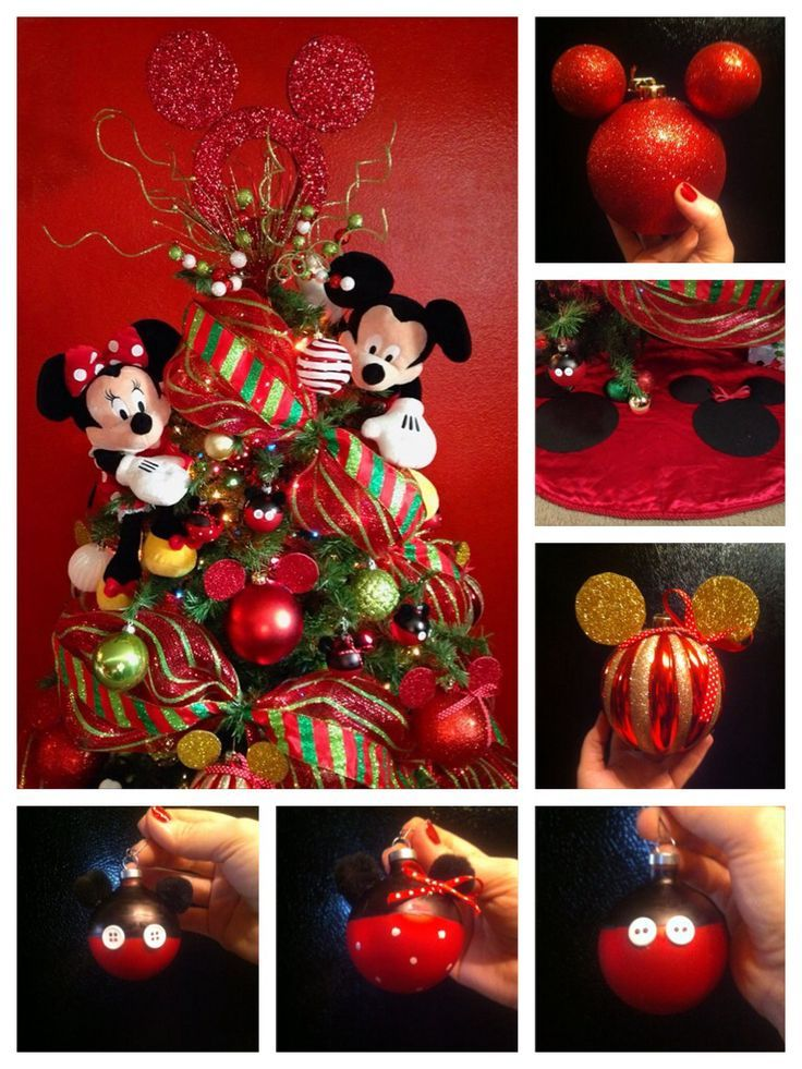17 best ideas about disney christmas crafts on pinterest for Decoration noel mickey