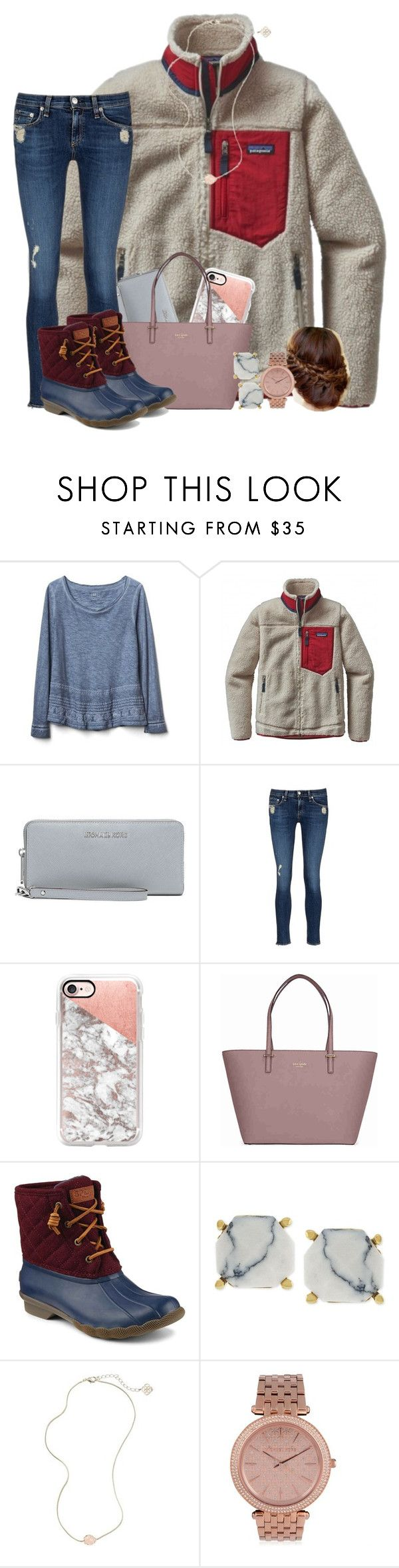 """bowling for kisses "" by wiinter-blue ❤ liked on Polyvore featuring Gap, Patagonia, MICHAEL Michael Kors, rag & bone/JEAN, Casetify, Kate Spade, Sperry, Vince Camuto and Kendra Scott"