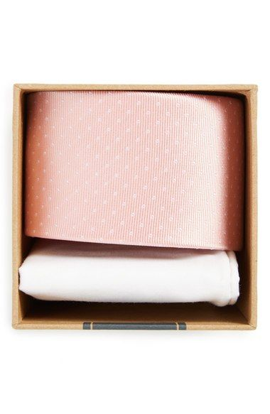 The Tie Bar Dot Silk Tie & Cotton Pocket Square Style Box available at #Nordstrom