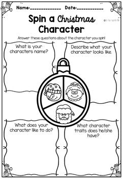 Christmas spin a character traits