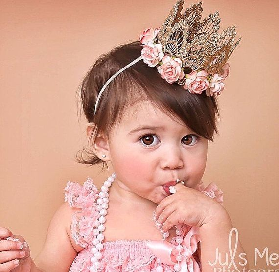 the Sienna Blush my Love rose gold lace crown by lovecrushbowtique