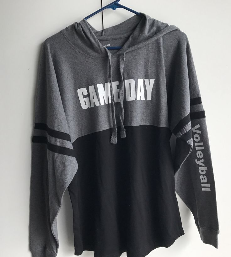 A personal favorite from my Etsy shop https://www.etsy.com/listing/513758271/game-day-volleyball-hooded-jersey