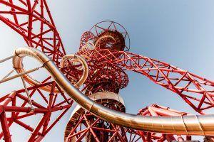 Slide at Olympic Park Stratford London