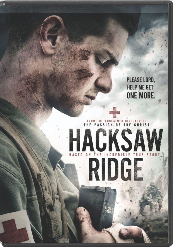 "[""<i>Hacksaw Ridge<\/i> is an inspirational film based on the true story of Desmond Doss\u2019 time serving in the army as a medic. As a Seventh-Day Adventist and Conscientious Objector, Doss\u2019 fellow soldiers didn\u2019t think he\u2019d be a valuable asset. But when it mattered most, he sacrificed everything to save at least 75 of his men during one of the bloodiest battles in World War II, earning him a Medal of Honor.<br><br>Stars Andrew Garfield and Sam Worthington. Nominated for six…"