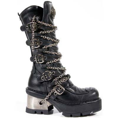 New Rock Stiefel Boots gothic schwarz 30 Tage M.1727 C20