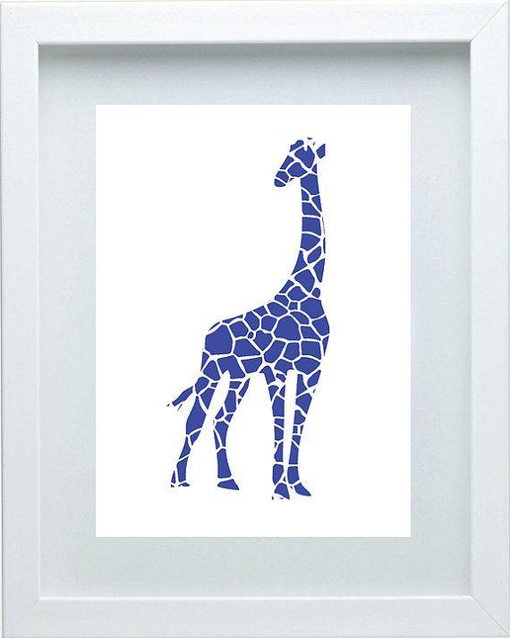 Giraffe Nursery Art Wall Art Safari Nursery by FMDesignStudio, $15.00