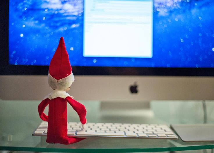 Writing an email to Santa to let him know how the boys were behaving.