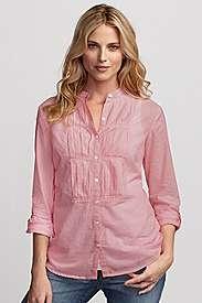 tucked bib front shirt