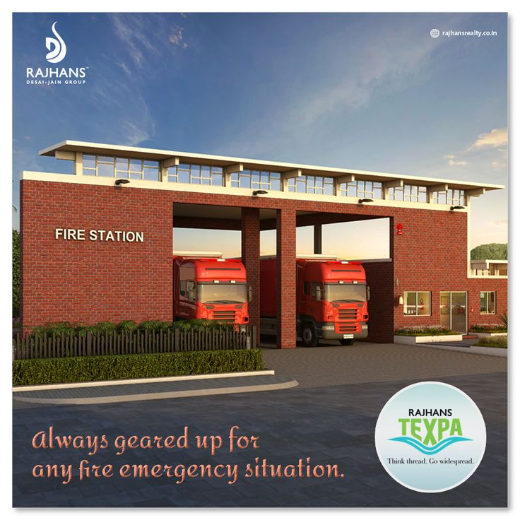 Always geared up for any fire emergency situation. #RajhansFila #RajhansRealEstate #TextilePark