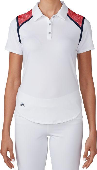 adidas Women's climacool Shoulder Block Polo | Golf Galaxy