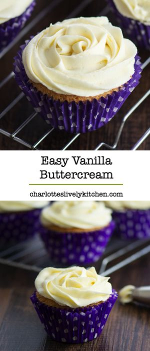 How to make perfect vanilla buttercream - Easy to make with just four everyday ingredients, and ideal for cupcakes, sandwich cakes, macarons and decorated celebration cakes. Gluten free.