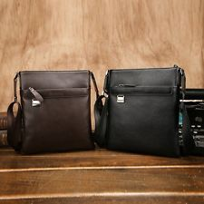 New Men Shoulder Bag Genuine Leather Cowhide Messenger Satchel Tablet Handbag