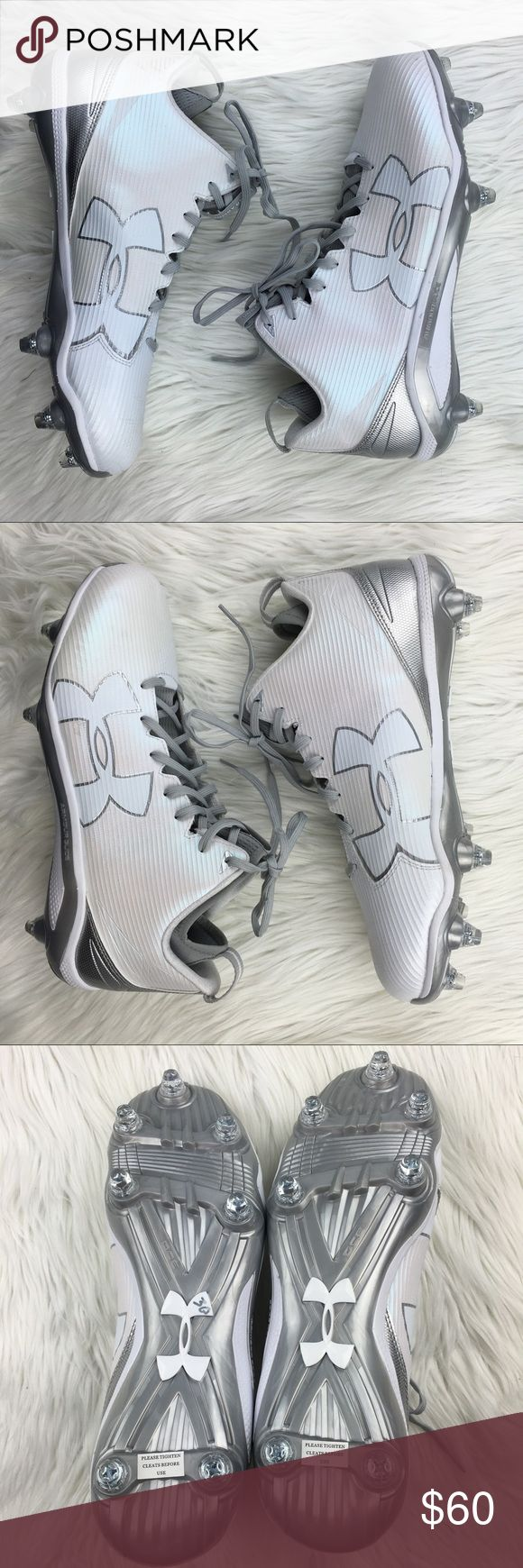 Under Armour white metallic cleats Sz 13.5 Under Armour white metallic cleats Sz 13.5. NWOT Under Armour Shoes Athletic Shoes