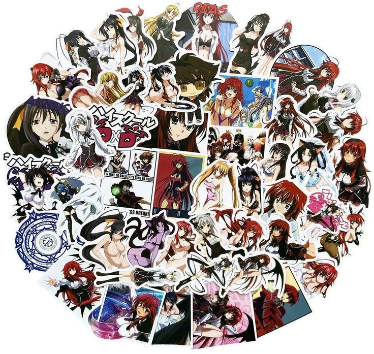 50 pcs high school dxd anime stickers laptop computer