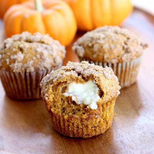 Pumpkin Cream Cheese Muffins via @Christy Polek Denney {The Girl Who Ate Everything}