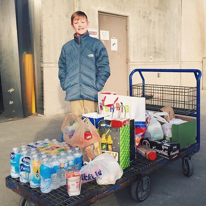 This is Camden. In 2014 he did his first Birthday Project and asked his friends to bring food to his party in lieu of gifts for the local food pantry. Here he is 3 years later still celebrating with the Birthday Project. Great job Camden! We love these stories! #thebirthdayproject #BeIntentional