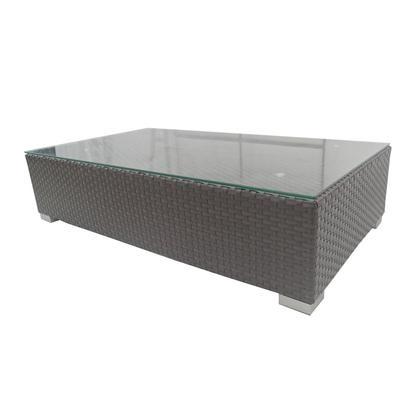 BRISBANE COFFEE TABLE W/CLEAR GLASS