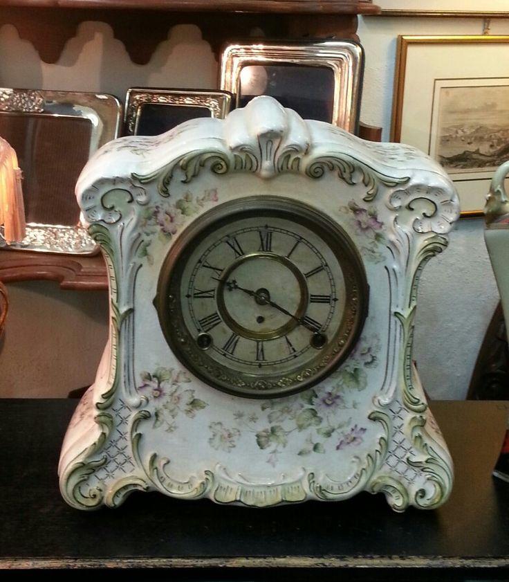 Antique Ansonia ceramic clock
