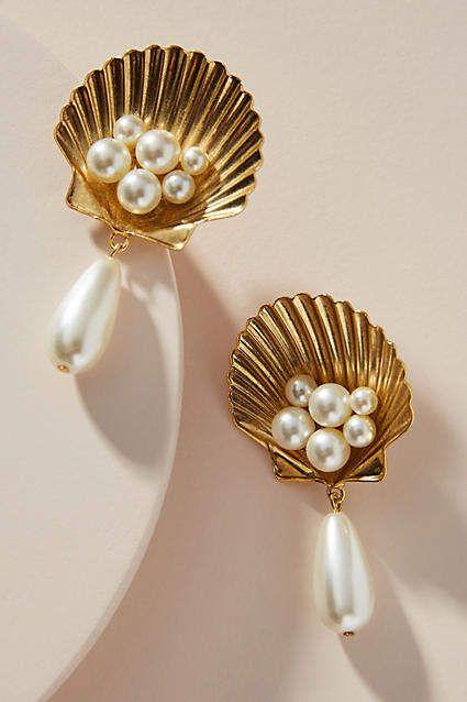 Jennifer Behr Marieta Pearl Drop Earrings in 2019 | Products