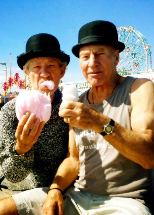 "Ian McKellen and Patrick Stewart -----da""Ian McKellen & Patrick Stewart"" di ⓛⓤⓐⓝⓐ"