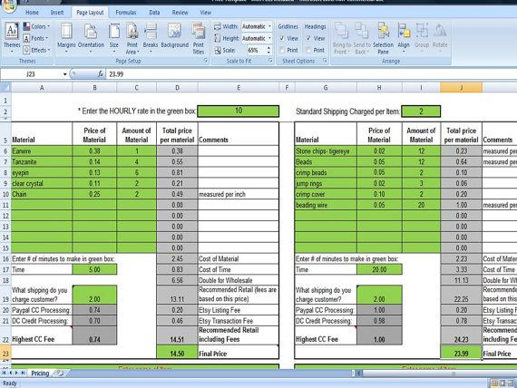 cool excel spreadsheet templates