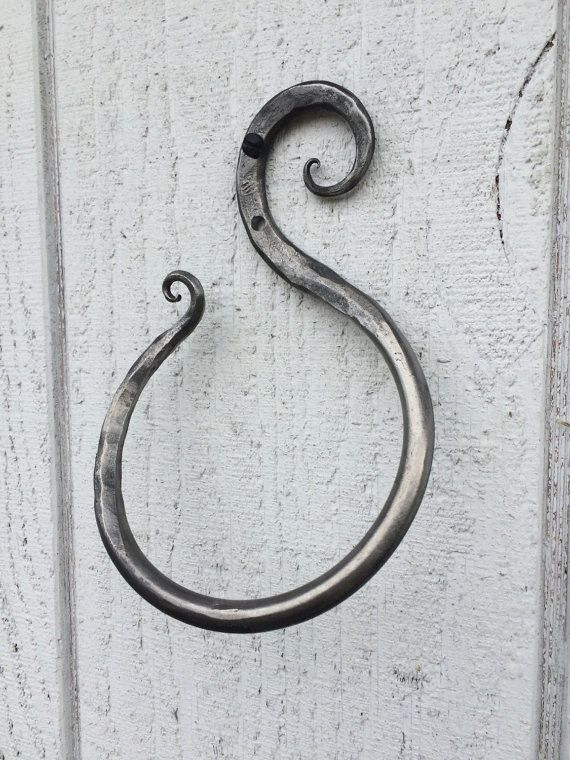 Scroll Design Towel Ring · Bathroom Towel BarsMetal CraftsTowel RacksIron  FistWrought Iron ...