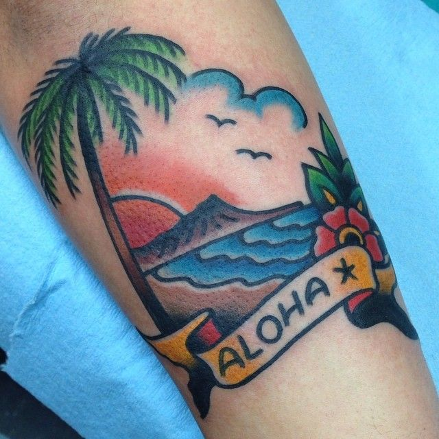 So cute.. What if you got a tiny traditional tattoo like this for every place you've travelled?