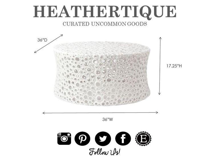 Oly Studio Meri White Round Cocktail / Coffee Table - HEATHERTIQUE