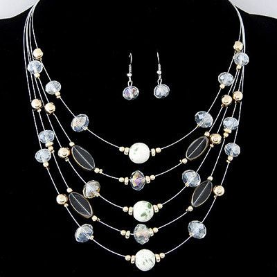 Multilayer Jewellery Set #alloy #crystal #dress #every-day #fashion #on-sale #sale