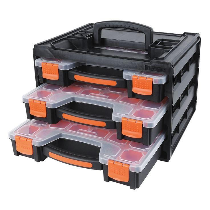 Tactix 3 Piece Storage Box Organiser