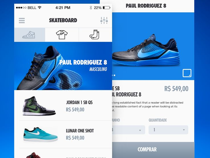 Nike Store - product detail by Leonardo Zem Gadotti