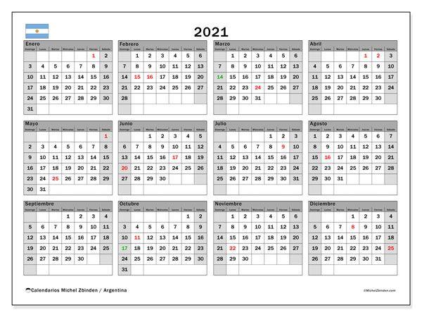 Calendario 2021 Argentina Pin en Calendario anual