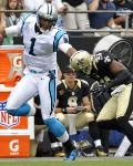 Saints Panthers Football - Cam Newton, Roman Harper