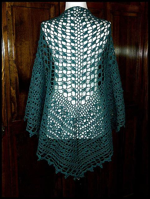 Crochet Lace Weight Shawl Pattern : 1000+ images about Crochet Shawls, sweaters, and ponchos ...