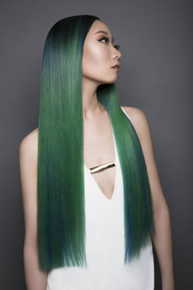191 best green hair color images on Pinterest   Hair color ...