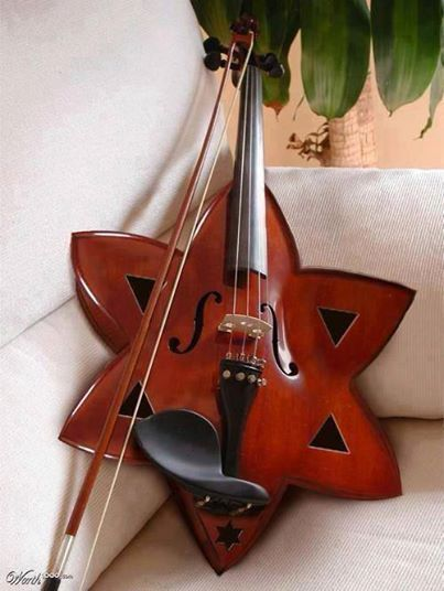 Star of David violin. music instruments violin starofdavid http://www.pinterest.com/TheHitman14/music-instruments/
