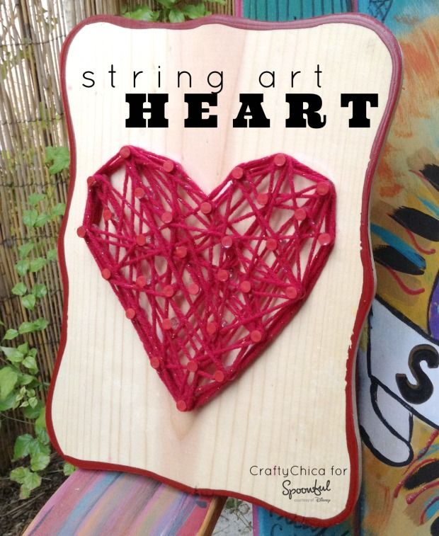 how to make heart with scooby strings