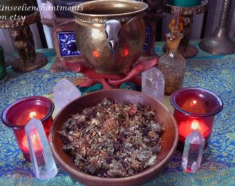 Morrigan Magick Herbal Blend - Courage, Strength, Celtic Warrior Goddess, Queen of Fairies, Triple Goddess, Divine Feminine, Raven Totem,Sex