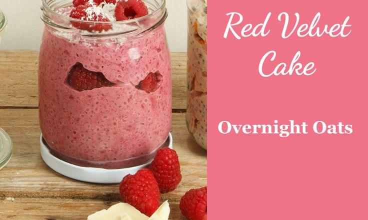 Rezept für Overnight Oats Red Velvet Cake