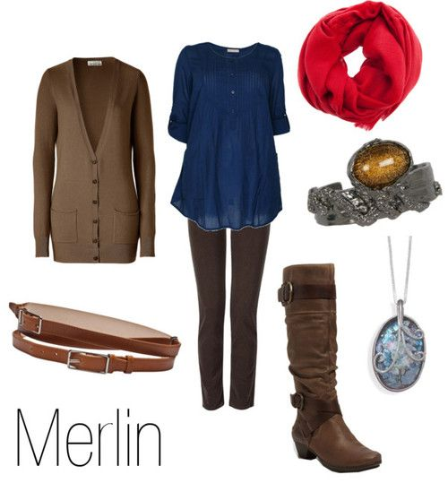 Merlin!! :D  love the show, love this outfit. it's an awesome combo