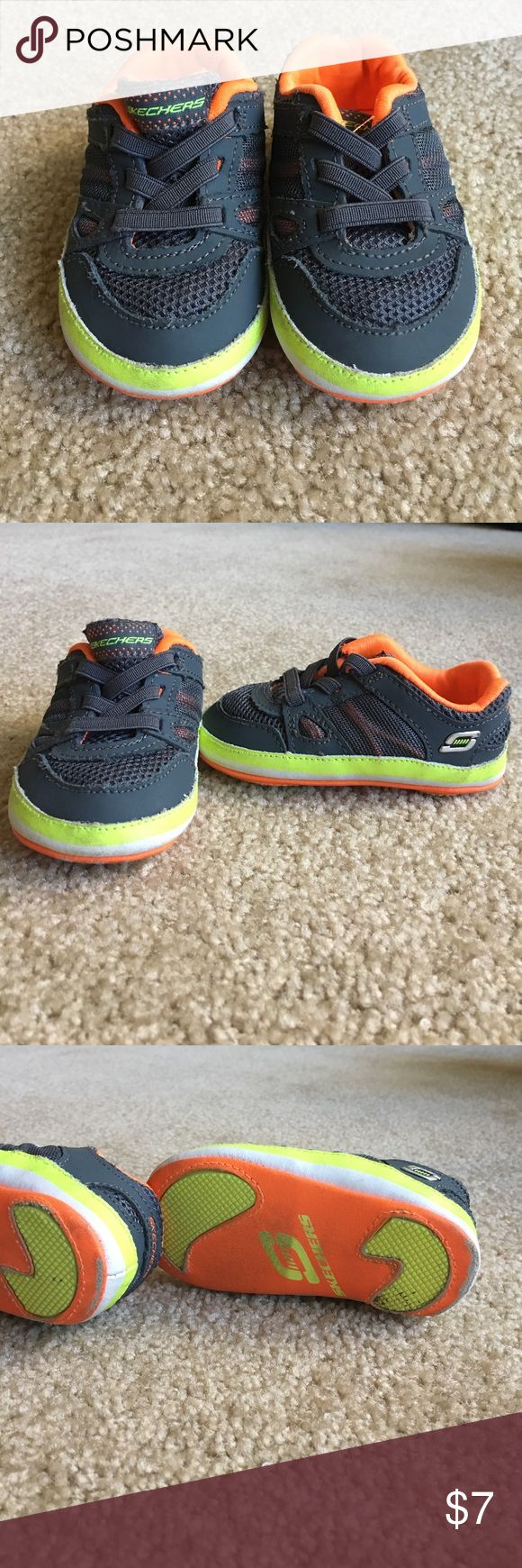 Infant shoes Good condition.  Does have some wear on the bottom ( soon in pic) Skechers Shoes Baby & Walker