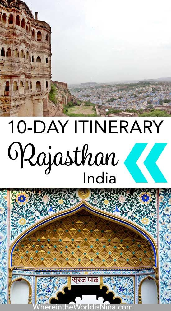 Here the perfect Rajasthan Itinerary for those with only 10 days in Rajasthan. Everything to see and do in Rajasthan, Rajasthan's best sights, the best Rajasthan photography, and everything needed to travel Rajasthan, India. Don't lose this pin, save it for later! #India #RajasthanIndia #IndiaItinerary