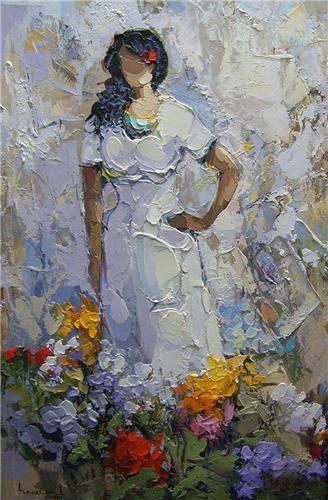 Saim Dursun - Guzel - oil on canvas